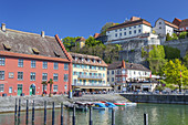 Harbour and old town of Meersburg on lake Constance, Baden, Baden-Wuerttemberg, South Germany, Germany, Central Europe, Europe