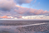 Clouds above the Wadden Sea National Park near Büsum, Dithmarschen, Schleswig-Holstein, Northern Germany, Germany, Europe