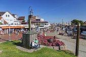 Historic lighthouse near the harbour in Büsum, Dithmarschen, Schleswig-Holstein, Northern Germany, Germany, Europe