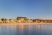 Houses and beach of Wyk, North Frisian Island Föhr, North Sea, Schleswig-Holstein, Northern Germany, Germany, Europe