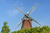 Windmill Nessmer, Dornum, East Frisia, Lower Saxony, Northern Germany, Germany, Europe
