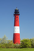 Lighthouse on the North Frisian Island Pellworm, North Sea, Schleswig-Holstein, Northern Germany, Germany, Europe