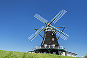 Windmill on the North Frisian Island Pellworm, North Sea, Schleswig-Holstein, Northern Germany, Germany, Europe