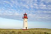 Lighthouse List West on the peninsula Ellenbogen, North Frisian Island Sylt, North Sea Coast, Schleswig-Holstein, Northern Germany, Germany, Europe
