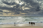 Stormy weather with clouds at the North Sea, Rantum, North Frisian Island Sylt, North Sea coast, Schleswig-Holstein, Northern Germany, Germany, Europe
