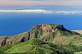 Fortaleza mit Blick auf Insel El Hierro, La Gomera, Kanarische Inseln, Kanaren, Spanien