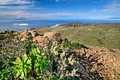View from summit of Fortaleza towards El Hierro and La Palma, from Fortaleza, La Gomera, Canary Islands, Canaries, Spain