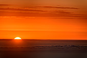 Sunrise above Atlantic Ocean, from La Gomera, Canary Islands, Canaries, Spain