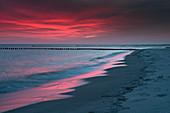Dawn, Beach, Prerow, Fischland-Darß-Zingst, Mecklenburg-Vorpommern, Germany, Europe