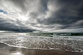 Cloudscape, Sunlight, Weststrand, Fischland-Darß-Zingst, Mecklenburg-Vorpommern, Germany, Europe