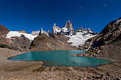 View of the Fitz Roy from the Laguna de los Tres, Los Glaciares National Park, Patagonia, Argentina