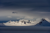 Blick auf die Gipfel des Cordon Lautaro (Chile), Campo de Hielo Sur, Nationalpark Los Glaciares, Patagonien, Argentinien
