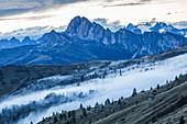 Bergpanorama am Pass Giau, Südtirol, Italien