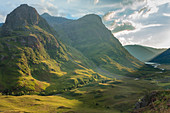 Looking down the pass of Glencoe,Highland, Scotland