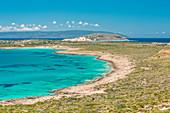Tourquoise sea at Lefki beach, Elafonissos island, Laconia Region, Peloponnese, Greece