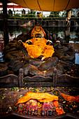 Sleeping Vishnu statue at Budanilkantha, Kathmandu, Nepal. Nepalese, Asia, Asian, Himalayan Country, Himalayas.