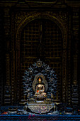 Detail innerhalb des Hiranya Varna Mahavihar, buddhistisches Kloster, Patan, Nepal, Asien, Himalaya