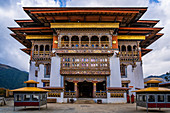 Gangteng Monastery generally known as Gangtey Gonpa or Gangtey Monastery.  Wangdue Phodrang District, Bhutan, Himalayan Country, Himalayas, Asia, Asian.