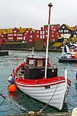 Fishing boat in the harbour, Torshavn, Streymoy island, Faroe Islands, Denmark
