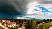 Massive storm from the top of the village of Moruzzo, Udine, Friuli Venezia-Giulia, Italy