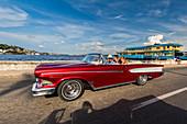 Classic American car in old Havana, Havana Province, Cuba