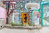 Mural drawings at Santeria in Old Havana, Havana, Havana Province, Cuba