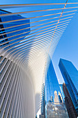 Das Oculus-Gebäude von Santiago Calatrava, One World Trade Center, Lower Manhattan, New York City, USA