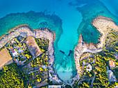 Salento aerial view, Apulia, Salento, Italy, Europe.