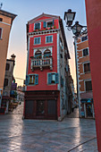 Rovinj - Rovigno, colorful buildings in Carera street, Istria, Adriatic coast, Croatia