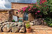 Traditional fishermen's house. Is Loccis Santus, San Giovanni Suergiu, Sud Sardegna province, Sardinia, Italy, Europe.