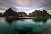 Sakrisoy, Sakrisoy village, Moskenesoy municipality, Lofoten islands, Norge, Norway, North Europe, Europe,