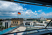 Sight from Reichstag Dome, Parliament building in Berlin, Germany, Europe