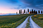 Europe, Italy, Tuscany, Pienza, Siena district. Typical farmhouse of the Orcia Valley
