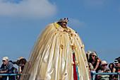 Saintes Maries de la Mer, Camargue, Provence, France, Europe. Pilgrimage Gypsies in honor Sarah the Black