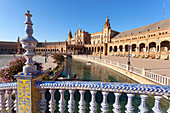 Plaza de Espa?a, Maria Luisa Park, Seville, province of Seville, Andalusia, Spain