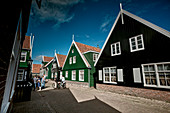 Typical houses in Kerkbuurt, Marche, North Holland, Netherlands