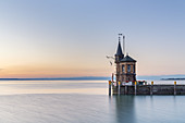 Lighthouse in the city harbor of Konstanz, Bodensee, Hochrhein-Bodensee, Baden-Württemberg,