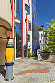 "Hundertwasser House ""Living under the Regenturm"", Plochingen am Neckar, Baden-Wuerttemberg"
