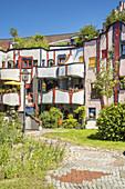 "Hundertwasser House ""Living under the Regenturm"", Plochingen am Neckar, Baden-Wuerttemberg"