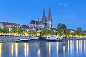 St. Peter's Cathedral on the Danube, Regensburg, Upper Palatinate, Bavaria