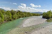 Isar near Lenggries, Tölzer Land, Upper Bavaria, Bavaria, Germany