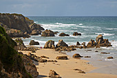 Castropol, Am Strand Playa de Penarrondo, Asturien, Spanien, Europa
