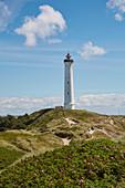 Lyngvig Fyr lighthouse at Nörre Lyngvig, Jutland, North Sea, Denmark, Europe