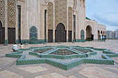 Fountain Mosque Hassan II with mosaic, Casablanca, Morocco, Africa