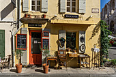 Tearoom, cafe, antique shop in Rue Voltaire, Arles, Provence, France