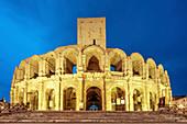 Roman amphitheater in Arles, Provence, Bouce du Rhone, France