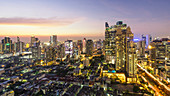 Bangkok skyline, Sathorn district, Thailand