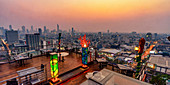Roof terrace of the SiamSiam Boutique Hotel in Bangkok, Thailand