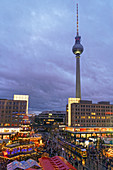 Christmas market on the Alexanderplatz, Berlin