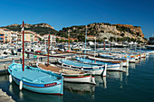 Boats at the port of Cassis, Cote d Azur, France